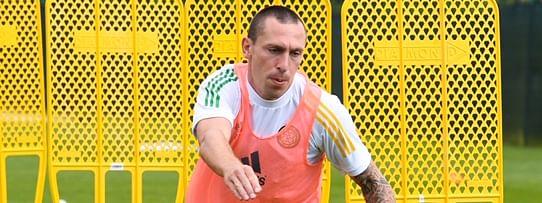 Celtic FC captain Scott Brown in practice