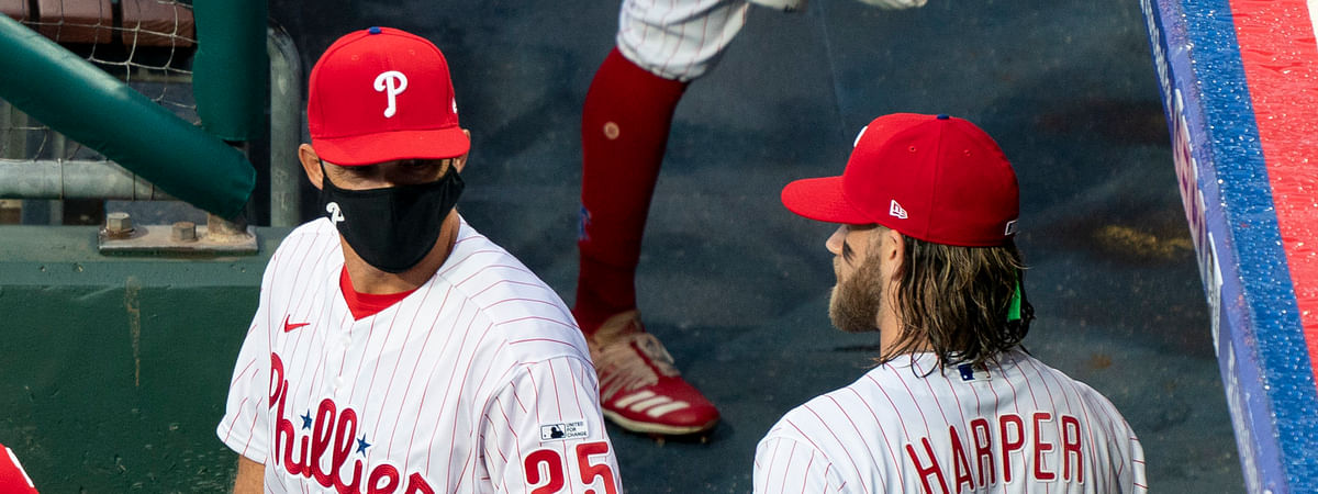 Joe Girardi (25), Bryce Harper and the Phillies will finally get back to action Monday night and hope to get on the board early