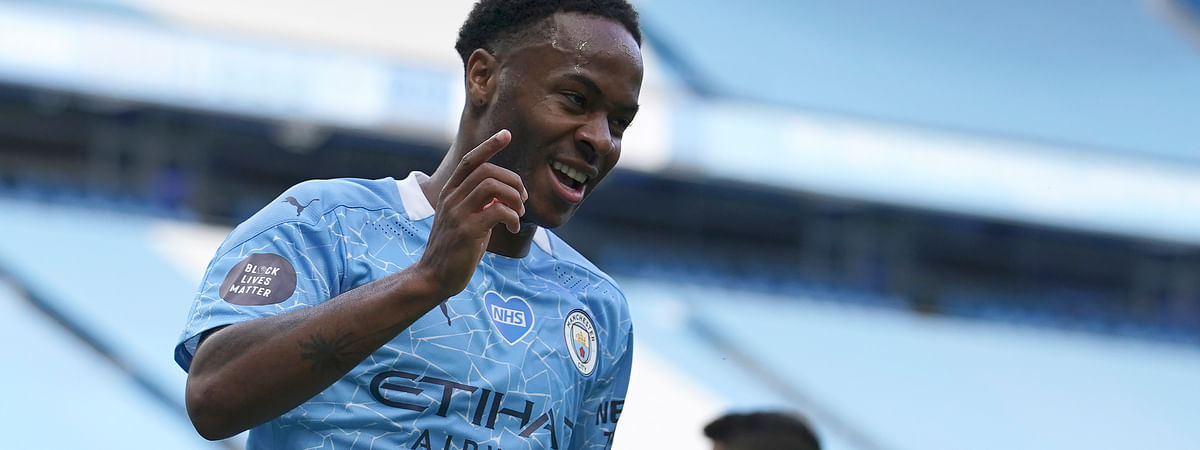 Will Manchester City's Raheem Sterling be celebrating in today's match against Lyon?