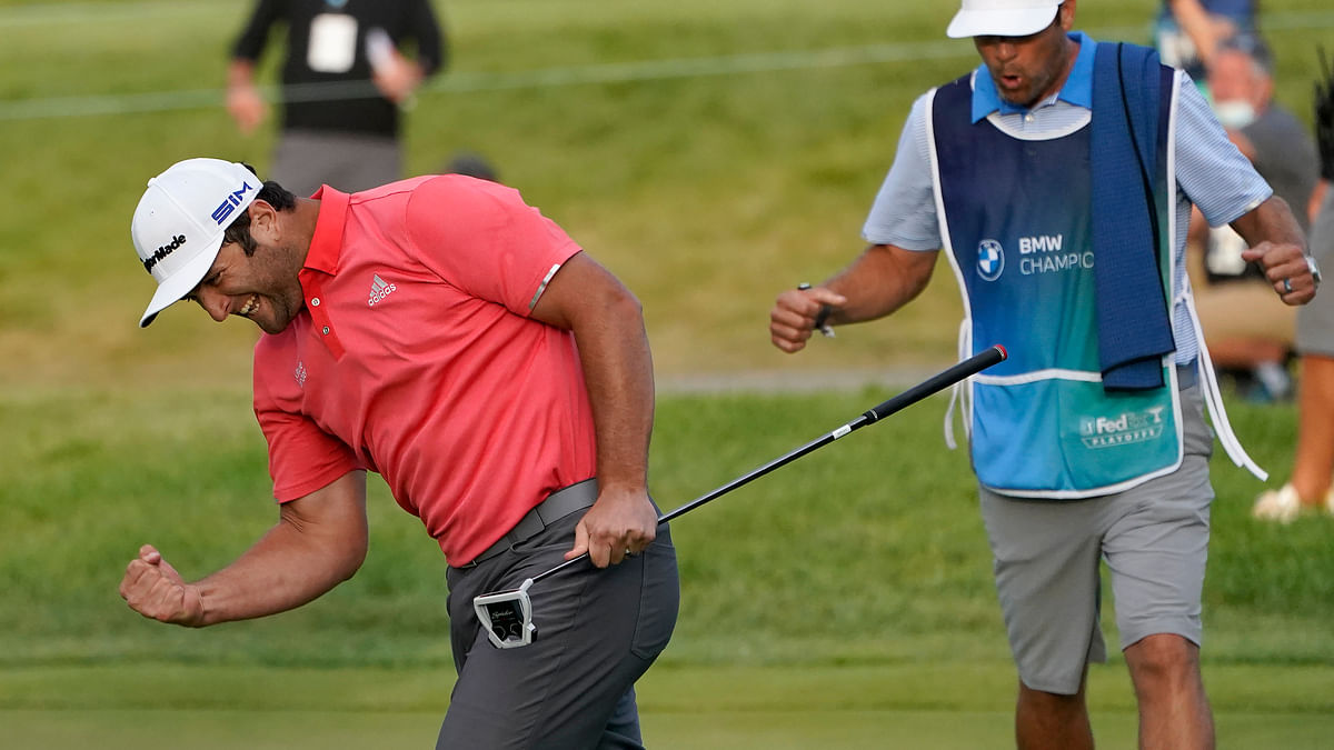 Jon Rahm channels frustrations into big win at the BMW Championship with big moments