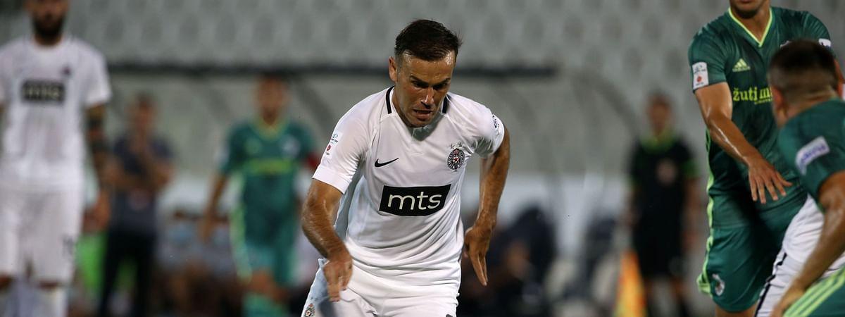 Bibars Natcho in action for Partizan Belgrade