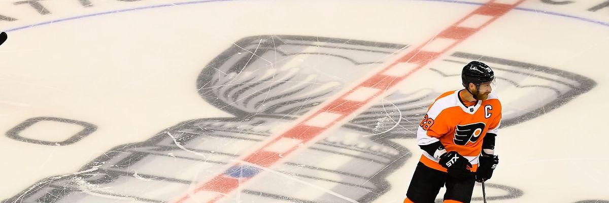 BoopProps Sunday - Hockey: Flyers vs. Bruins, Claude Giroux, James van Riemsdyk, Michael Raffl, first period