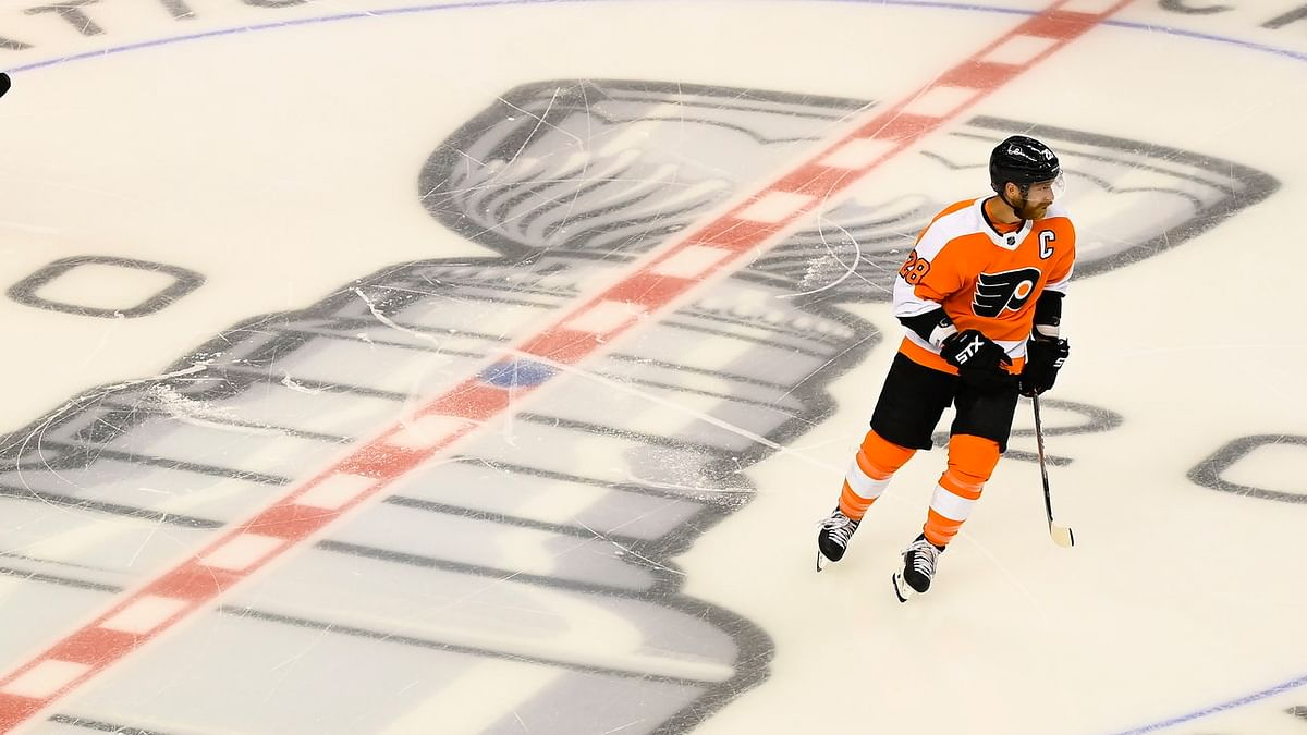 BoopProps Sunday - Hockey: Flyers vs. Bruins, Claude Giroux, James van Riemsdyk, Michael Raffl, first period