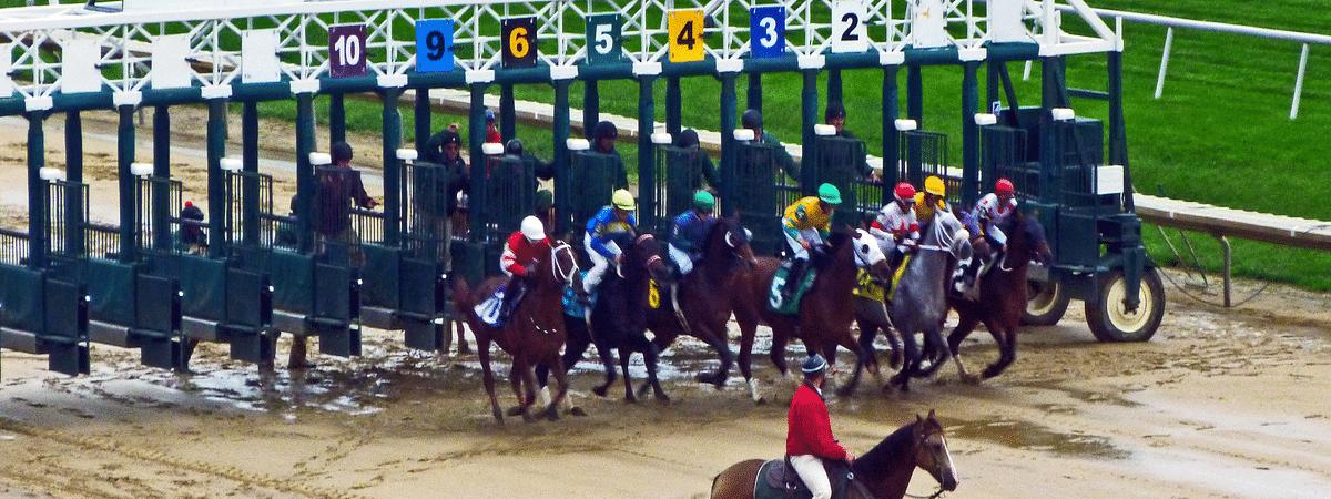 Racing at Delaware Park.