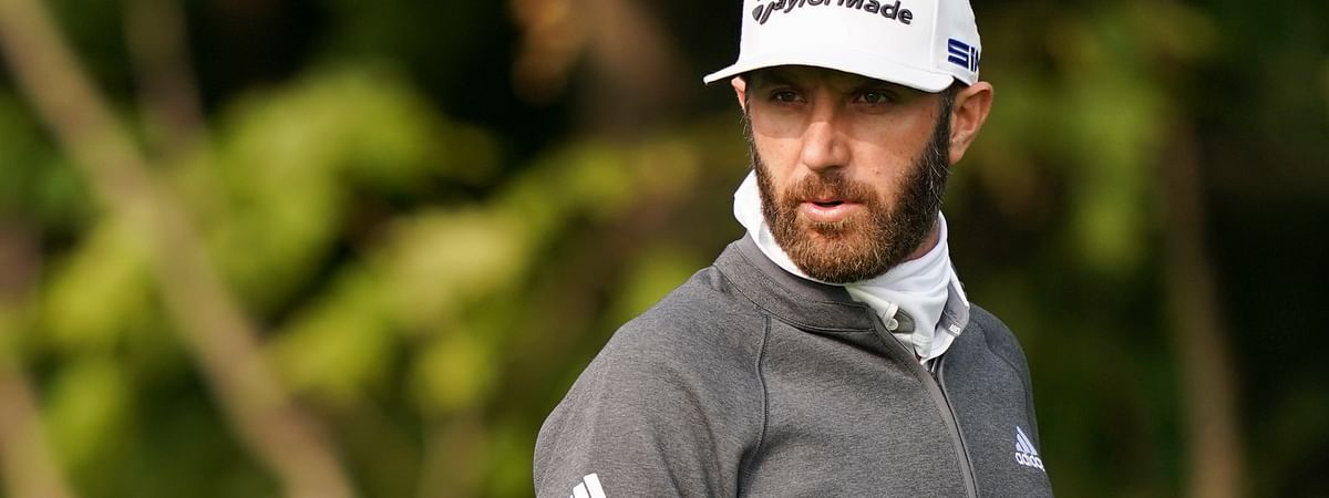 Dustin Johnson walks the 12th fairway during practice before the U.S. Open Championship golf tournament at Winged Foot Golf Club, Tuesday, Sept. 15, 2020, in Mamaroneck, N.Y.