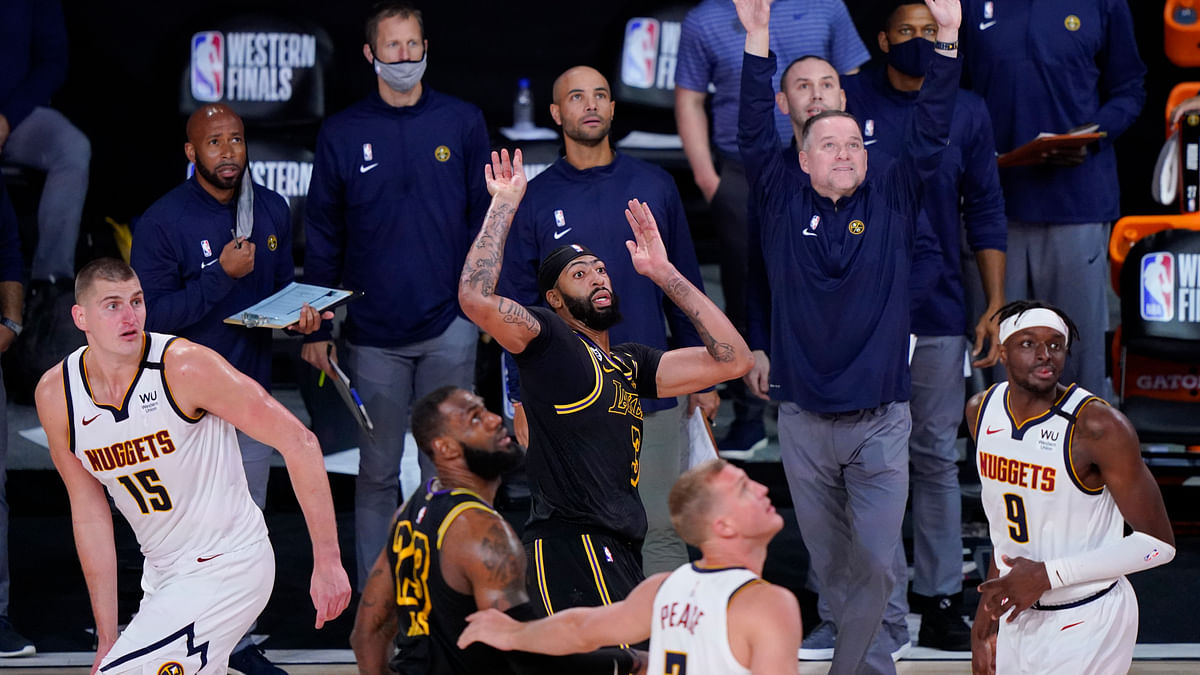 Anthony Davis hits 3-pointer at buzzer, Lakers edge Nuggets for 2-0 series lead
