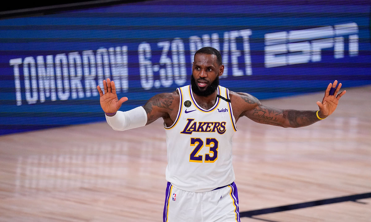 LeBron James has won NBA titles with the Miami Heat, Cleveland Cavaliers and Los Angeles Lakers.