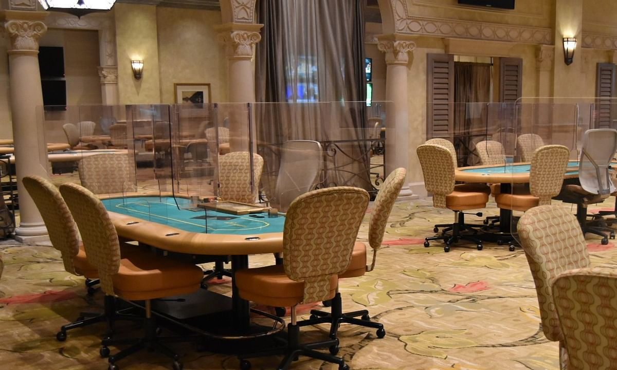 The re-designed Borgata poker room.