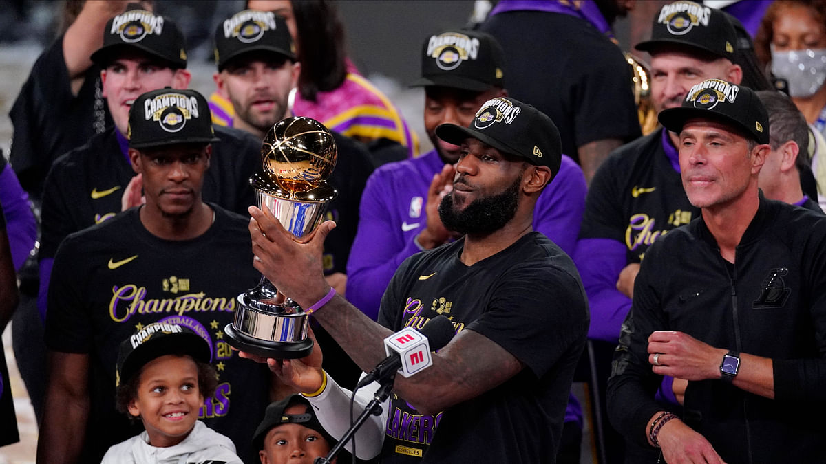 Los Angeles Lakers, led by LeBron James, run past Heat for 17th NBA championship
