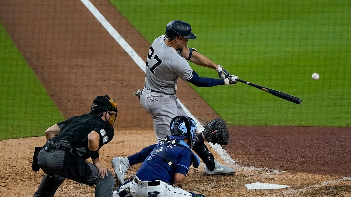 Bombs Away! Stanton, Higashioka, Judge, and Frazier homer to lead Yankees to 9-3 win against Rays in opener