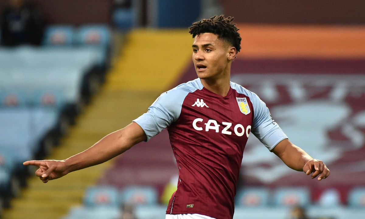 Aston Villa's Ollie Watkins during the English Premier League soccer match between Aston Villa and Crystal Palace at the Villa Park stadium in Birmingham, England, Saturday, Dec. 26, 2020.