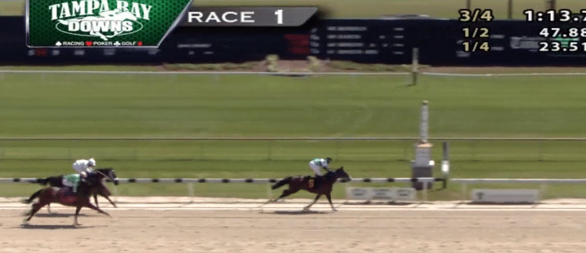 Tampa Bay Downs 1st, March 27, 2021.