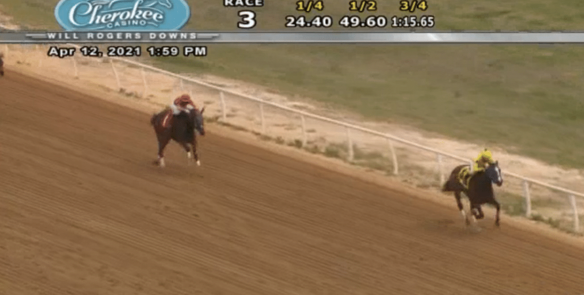 Will Rogers Downs 3rd race, 4/12/21.