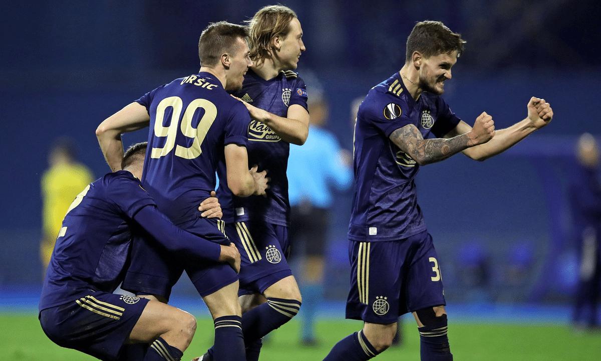 Dinamo Zagreb celebrates.