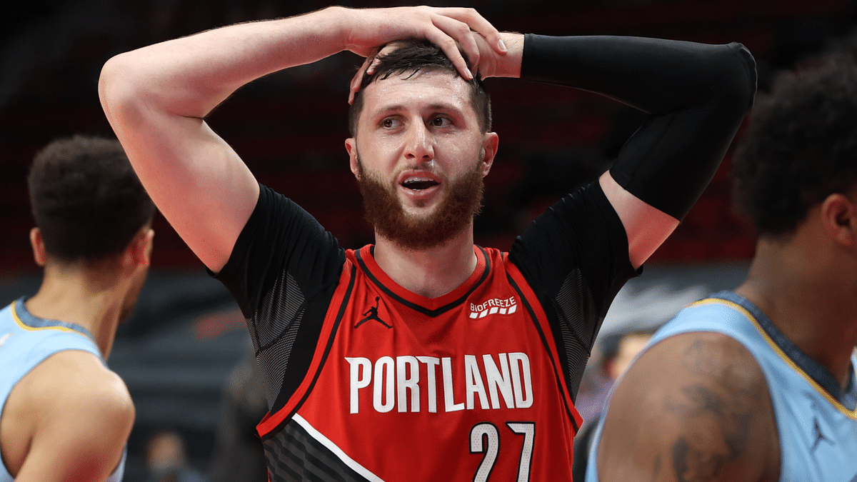 Jusuf Nurkic after having a big game but missing a big shot.