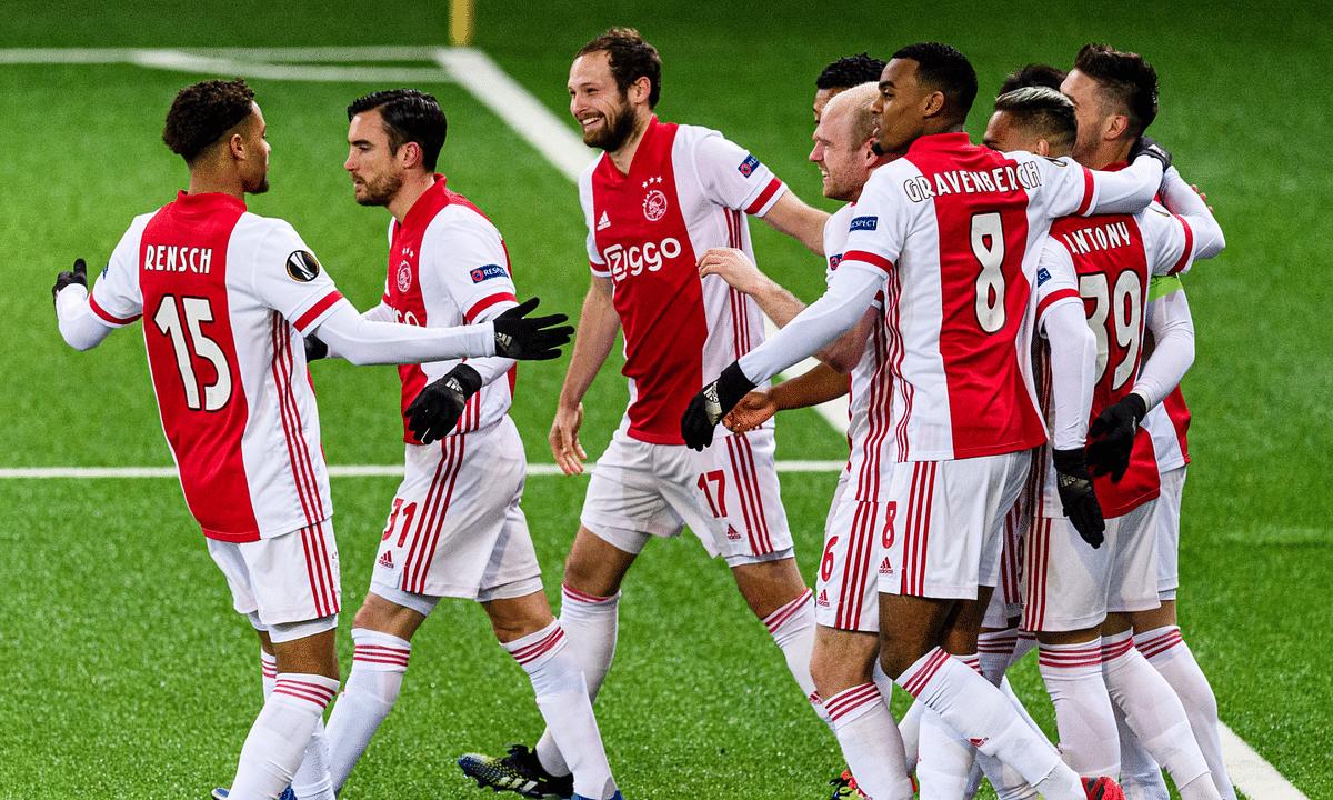 Ajax, in a celebratory mood.