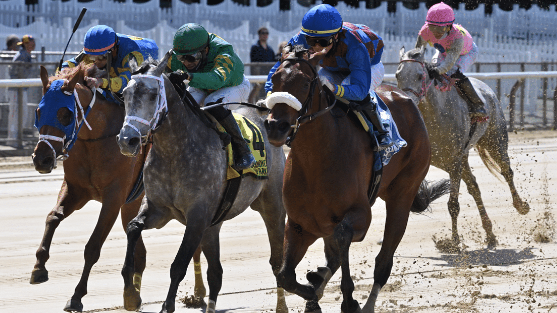 Garrity's Saturday Stakes picks races at Woodbine, Monmouth (Irish War Cry), Saratoga (Caress), and Del Mar
