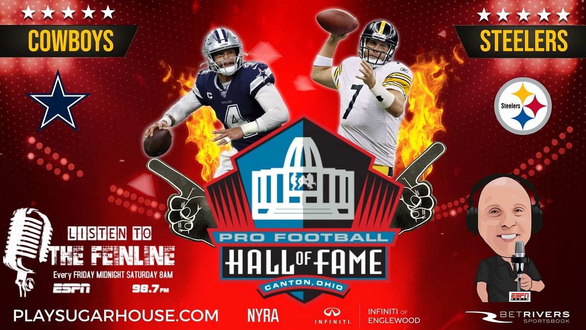 NFL is back: Joe Wiz has the play tonight in Hall of Fame Game between Pittsburgh Steelers and Dallas Cowboys