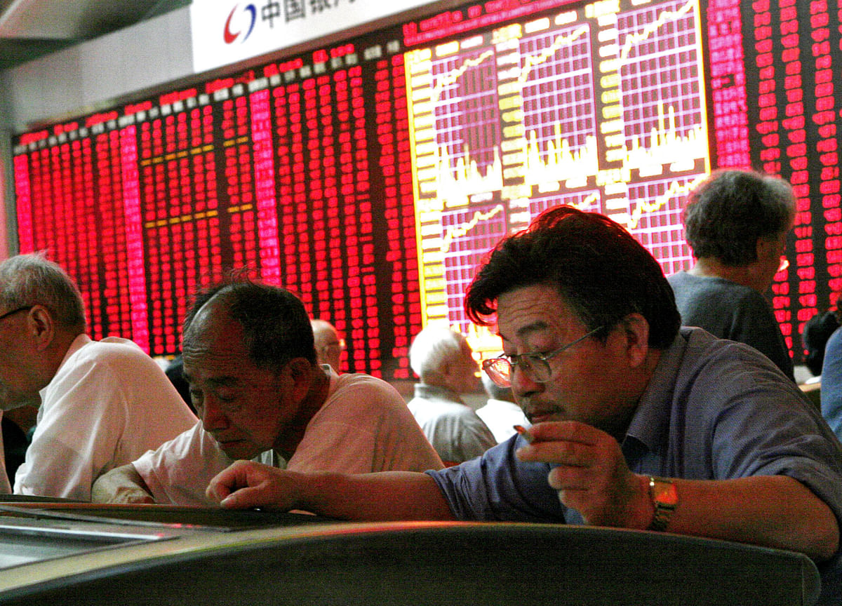 China's $100 Billion-a-Day Stock Moves Show Trader Angst