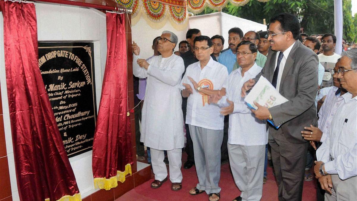 File photo of outgoing Tripura Chief Minister Manik Sarkar. (Photo: PTI)