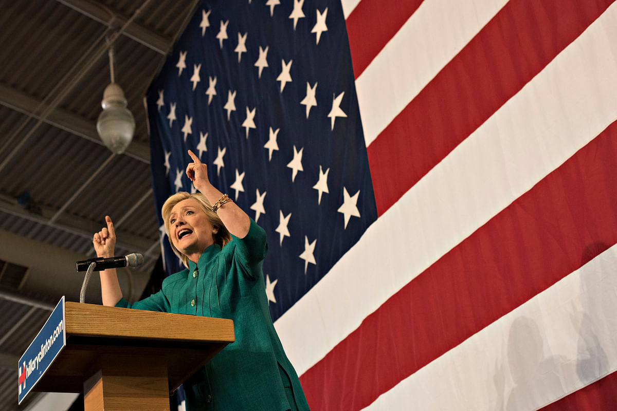 Hillary Clinton, Democratic Party's nominee for U.S. president. (Photographer: Daniel Acker/Bloomberg)