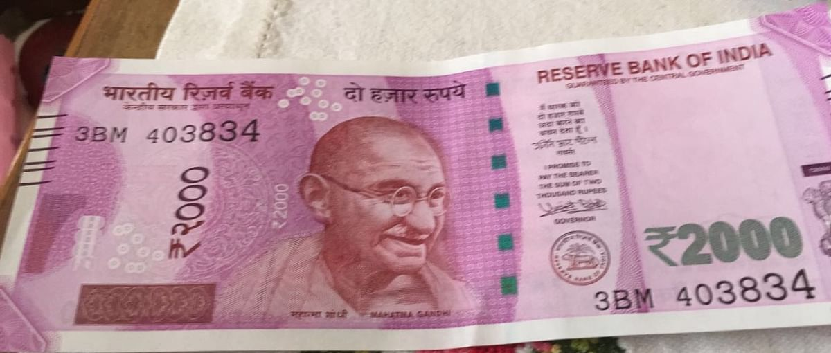 An image of the new Rs 2,000 note. (Source: BloombergQuint)
