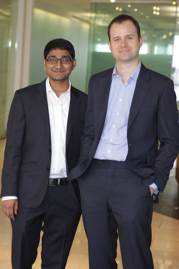Sandeep Bathina and  Tom Beevers, Co-founders of StockViews (Photograph: Nishant Sharma/BloombergQuint)