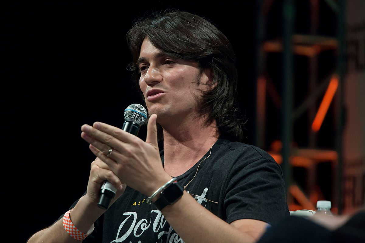 Adam Neumann, co-founder and chief executive officer of WeWork, the world's largest co-working startup (Photographer: Michael Nagle/Bloomberg)