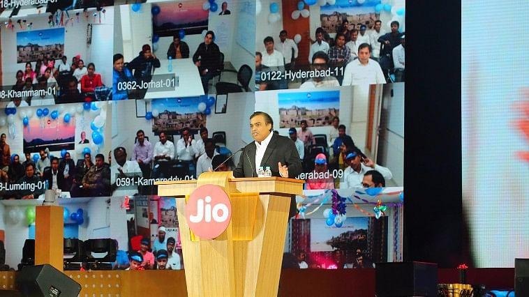 Mukesh Ambani, Chairman and MD, RIL, at the Reliance Jio launch. (Photo Courtesy: Reliance)