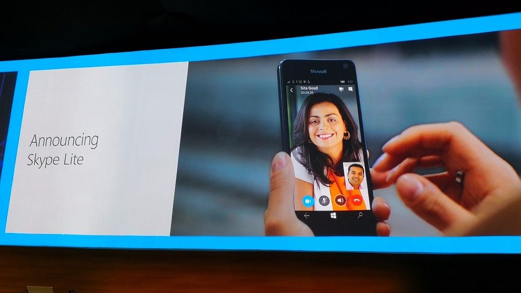Microsoft Skype Lite will even work on 2G connections in India. (Photo Courtesy: Microsoft/Twitter)