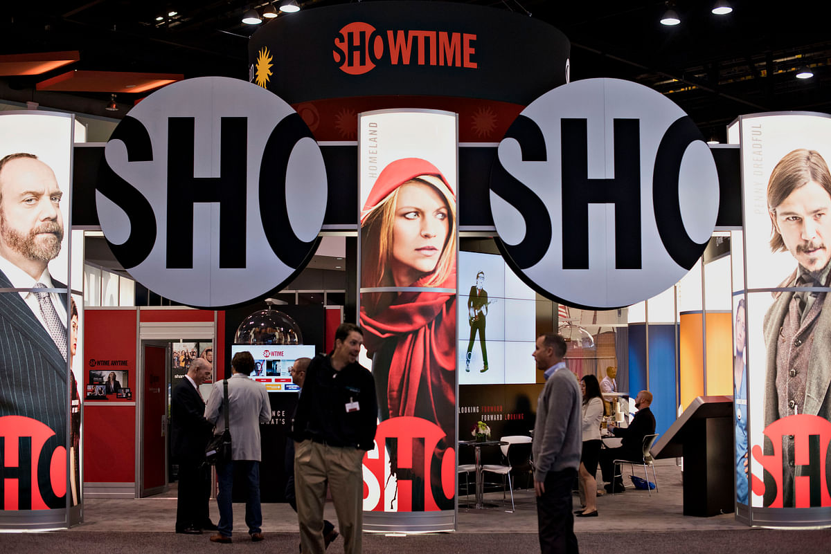 The Showtime Networks Inc. booth stands at INTX: The Internet & Television Expo in Chicago, Illinois, U.S., on May 6, 2015. (Photographer: Daniel Acker/Bloomberg)