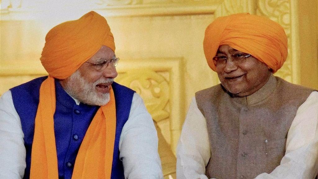 Prime Minister Narendra Modi with Bihar Chief Minister Nitish Kumar. (Photo: PTI)
