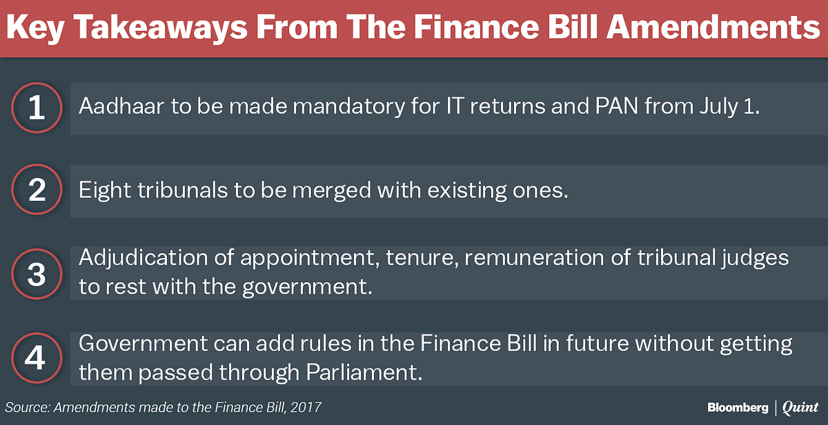 Finance Bill, 2017: How Tribunal Mergers Took Cover Under Money Bill