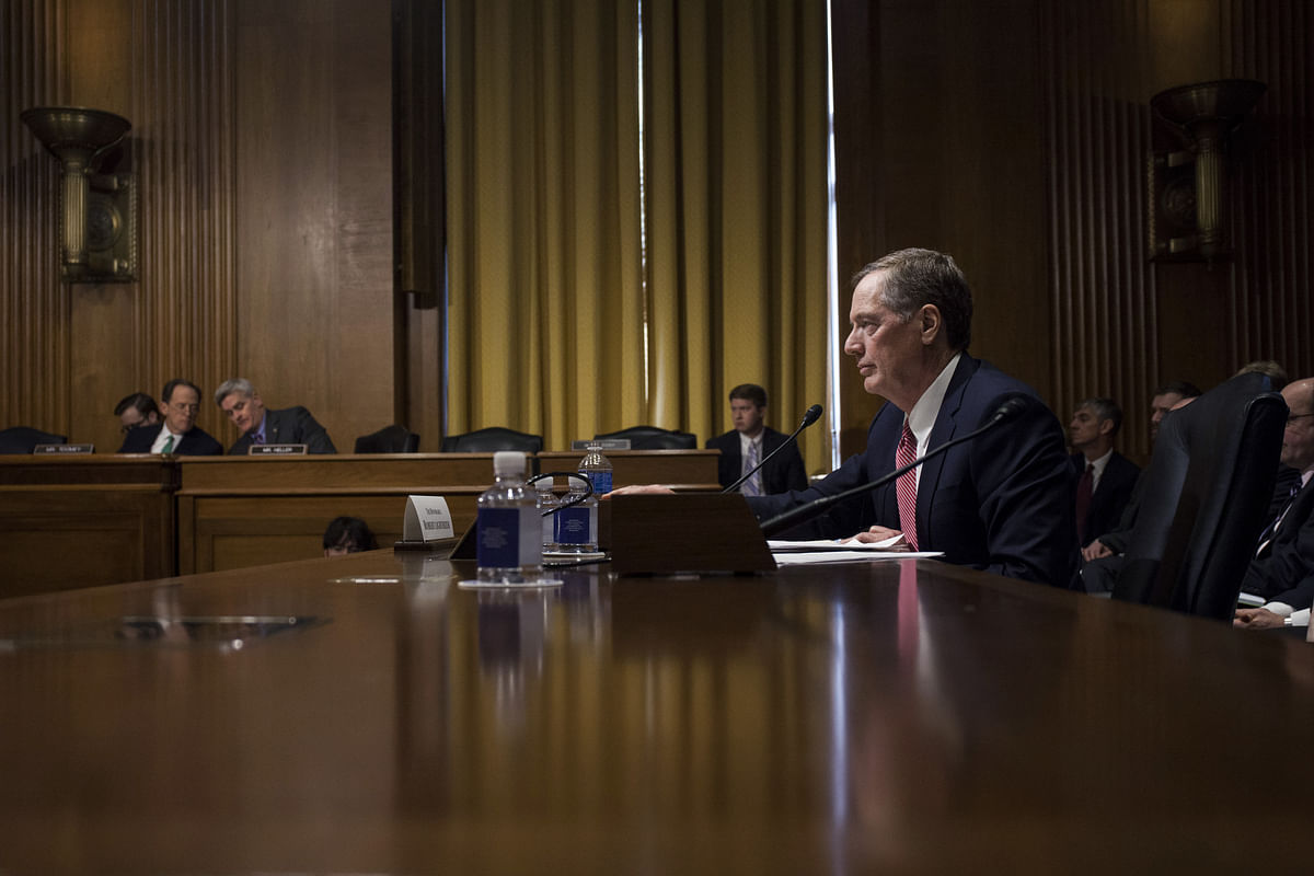Robert Lighthizer, U.S. trade representative nominee for President Donald Trump, testifies during a Senate Finance Committee confirmation hearing in Washington, D.C., on March 14, 2017. (Photographer: Zach Gibson/Bloomberg)