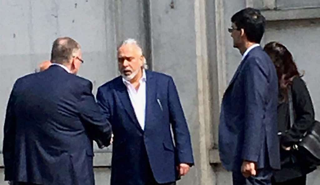 Industrialist Vijay Mallya leaves Westminster Magistrates' Court in London after getting bail. (Source: PTI)