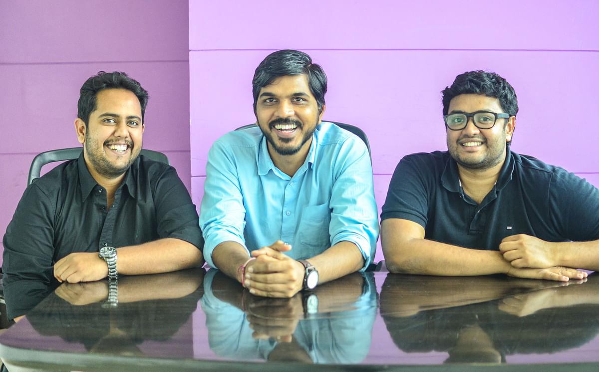 (L-R )-Nandan Reddy, Rahul Jaimini, Sriharsha Majety, founders Swiggy. (Source: Swiggy)