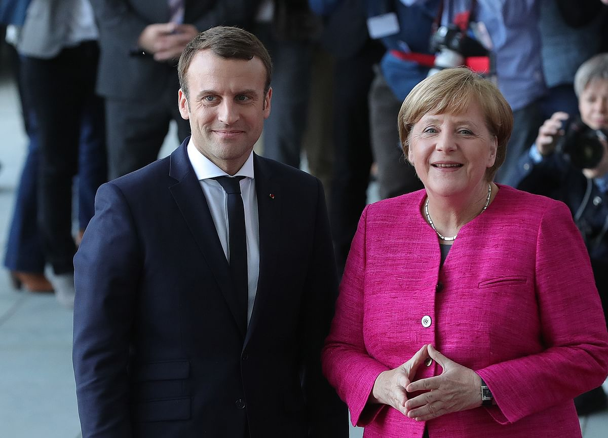 Merkel, Macron Conjure Hamilton Moment to Fight EU Break-Up