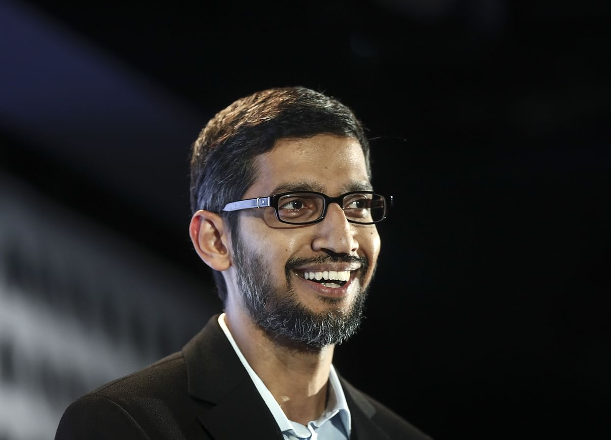 Trump Says He Met With Google'sPichai, Talked Military and 'Political Fairness'