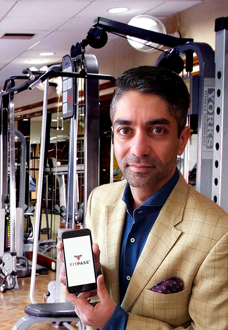 Abhinav Bindra using FitPass App. (Source: FitPass)