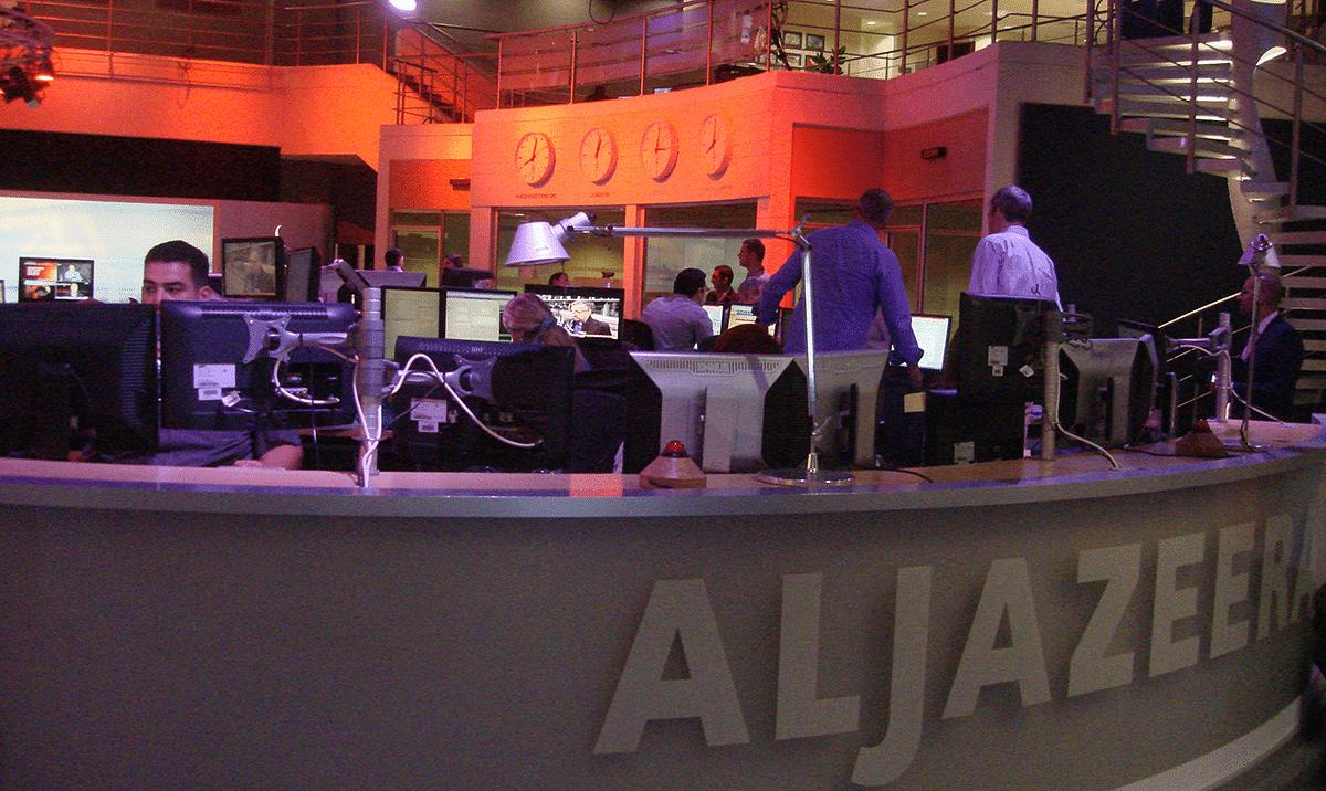 Inside the Al Jazeera headquarters in Doha, Qatar. (Photograph: Raj Bhala)