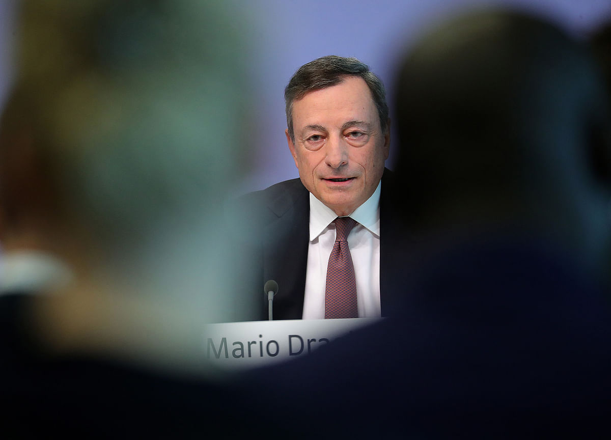 Mario Draghi Is Watching His ECB Rate Hike Slip Over the Horizon