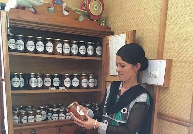 Ranjita Devi has worked with Bhuira Jams from the day it received its commercial license in 1999. (Source: IndiaSpend/Namita Bhandare)
