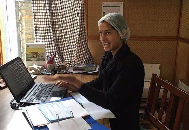 Upasana Kumari, a BSc in information technology, now an administrator at Bhuira Jams. (Source: IndiaSpend/Namita Bhandare)