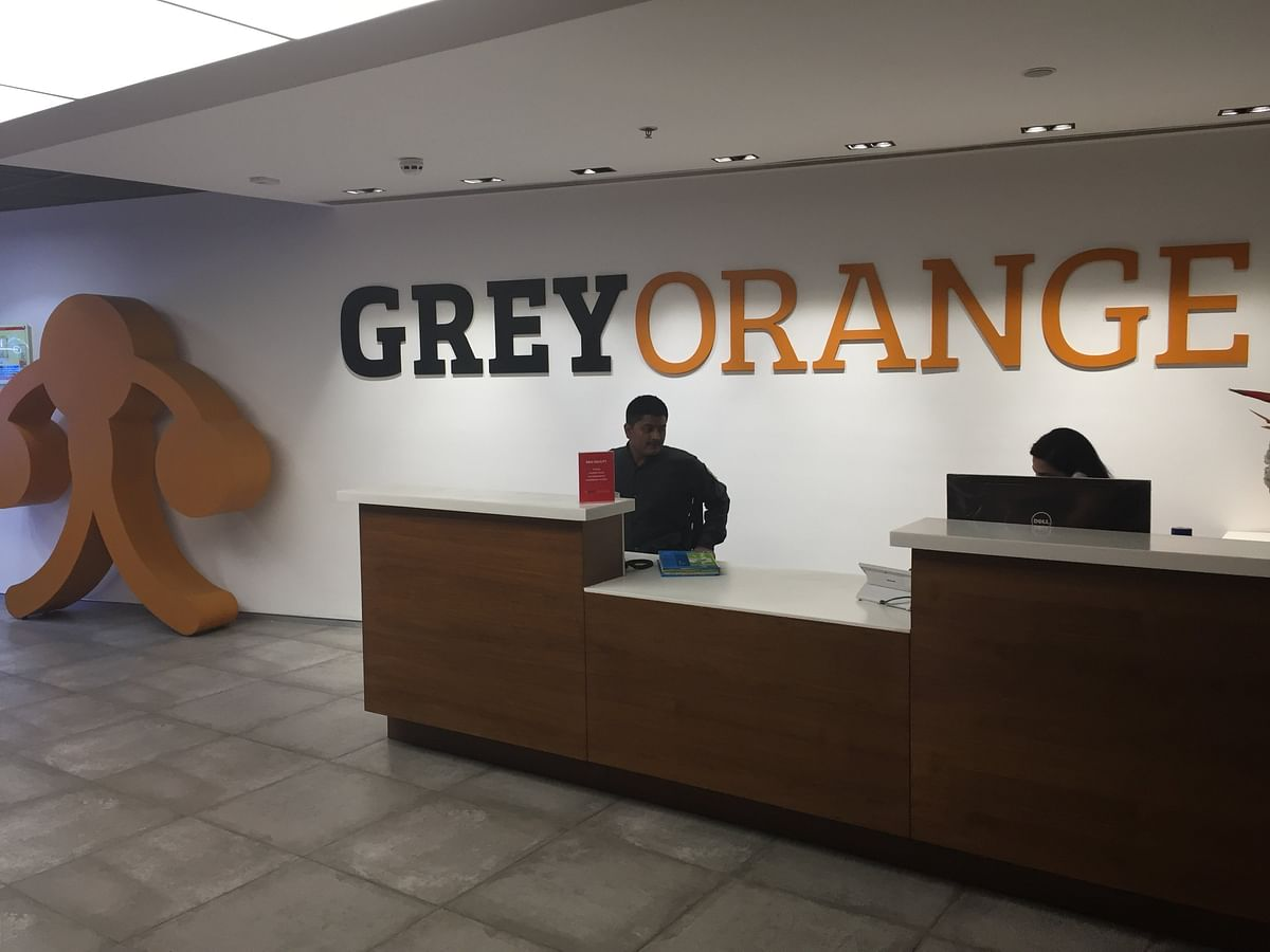 The GreyOrange office in Gurugram. (Photographer: Nishant Sharma/BloombergQuint)