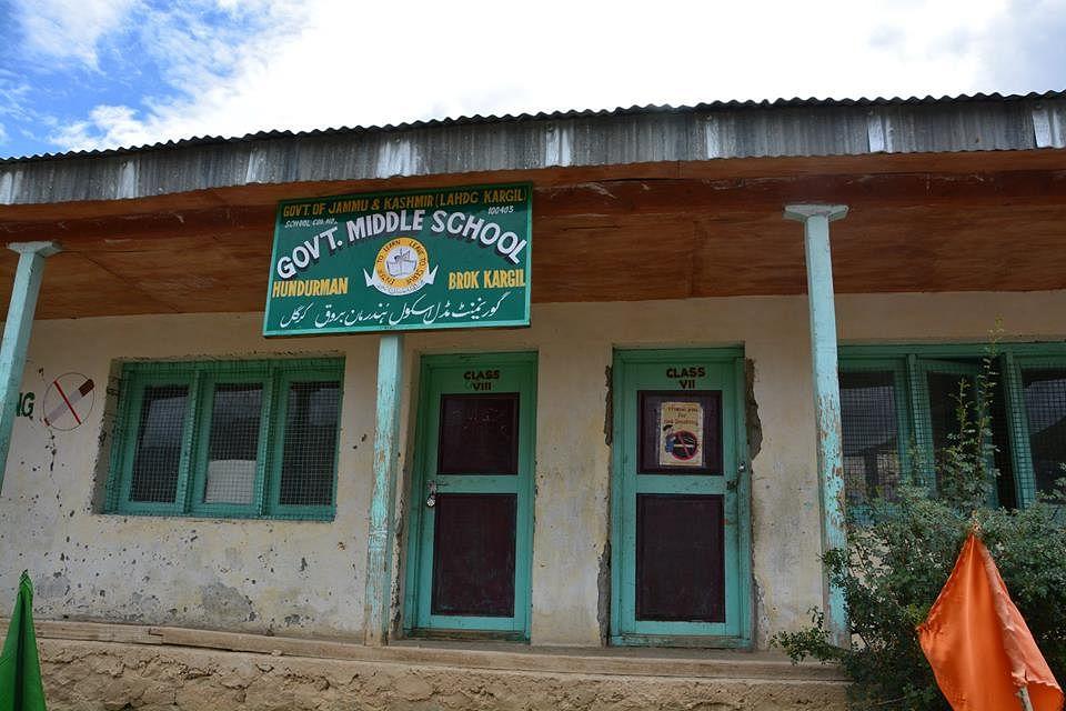 The middle school in Hunderman Brok, Kargil, Jammu & Kashmir, with 19 students. (Photograph: 17000 ft Foundation)