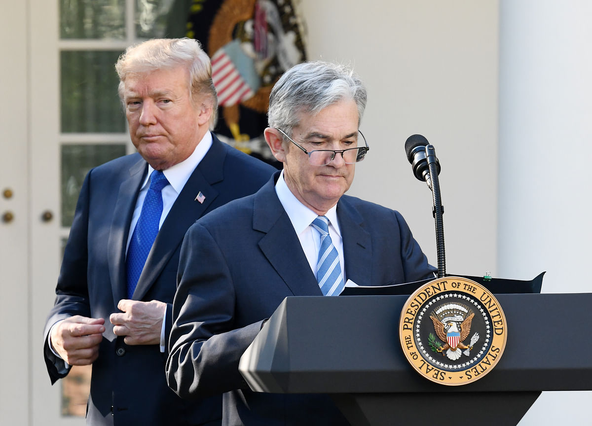 Trump Says He 'Protested' to Powell About U.S. Interest Rates