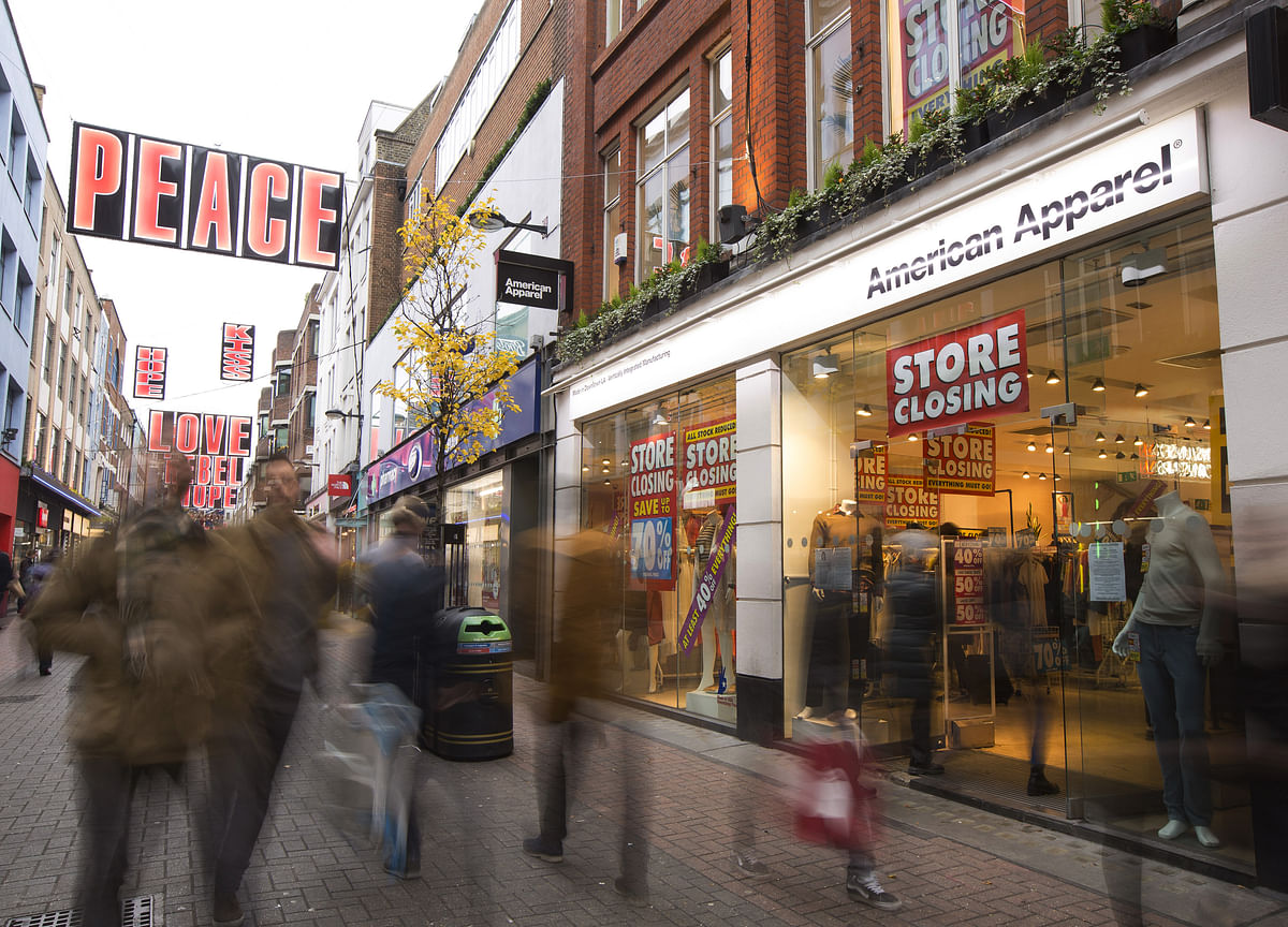 U.K. Retail Crisis Deepens as Stores Report Plunging Sales