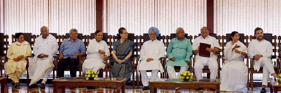 Leaders of India's opposition parties meet on May 26, 2017. (Photograph: PTI)