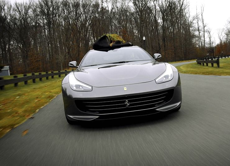 Hauling a Christmas Tree in a Ferrari GTC4Lusso Is Totally Normal