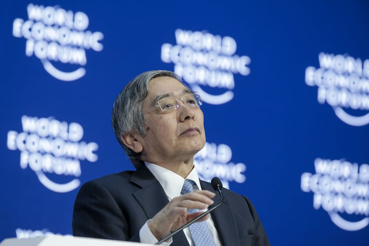 BOJ Says Kuroda Didn't Revise Price Outlook in Davos Remark